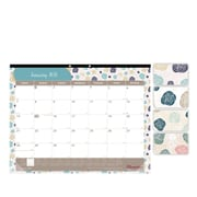 "2018 Brownline® 22"" x 17"" Begonia Monthly Desk Pad Calendar, Floral-Themed (C194113)"