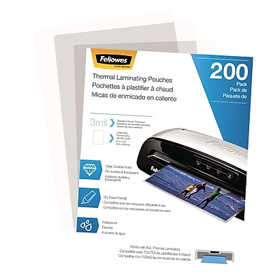 Fellowes Laminating Pouches - Letter 3 mil 200 pack