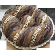 BessieBarnie Bagel Wild Kingdom Classic Dog Bed (Set of 1000); Large (42'' W x 42'' D x 10'' H)