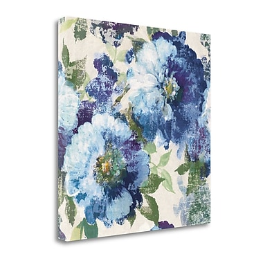 Tangletown Fine Art 'Indigo Floral Gallery' by Wild Apple Portfolio Painting Print on Wrapped Canvas