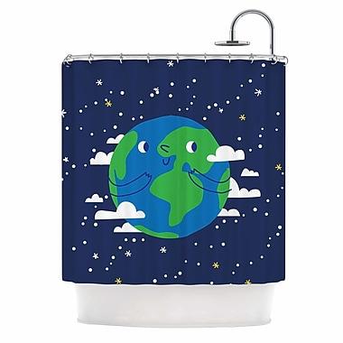 East Urban Home 'Happy Earth' Shower Curtain