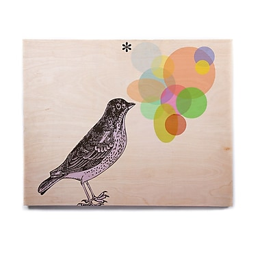 East Urban Home Bird 'Candy Birds' Graphic Art Print on Wood