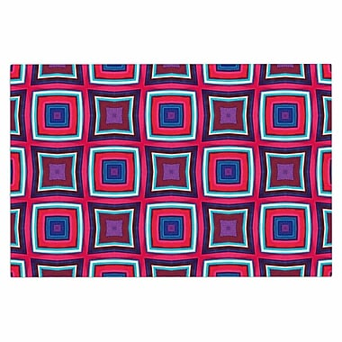 East Urban Home 'Watercolor Blocks' Checker Decorative Doormat