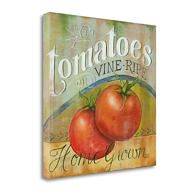 Tangletown Fine Art Tomatoes Vine Ripe' Vintage Advertisement on Canvas; 26 ''H x 26 ''W x 1.5''D