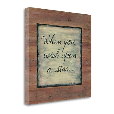 Tangletown Fine Art When You Wish Upon a Star' Textual Art on Canvas