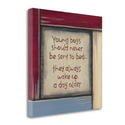 Tangletown Fine Art Young  Boys'   Textual  Art  on  Canvas; 20 ''H x 20 ''W   x 1.5''D