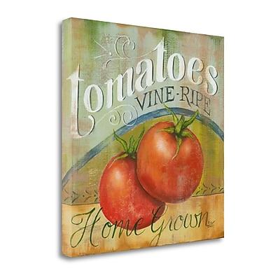 Tangletown Fine Art Tomatoes Vine Ripe' Vintage Advertisement on Canvas; 29'' H x 29'' W
