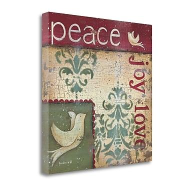 Tangletown Fine Art Peace Joy Love' Graphic Art Print on Canvas; 24 ''H x 24 ''W x 1.5''D