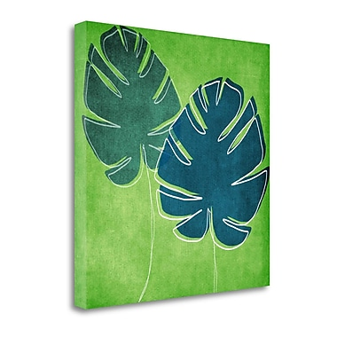 Tangletown Fine Art Palm Leaves' Graphic Art Print on Canvas; 20 ''H x 20 ''W x 1.5''D