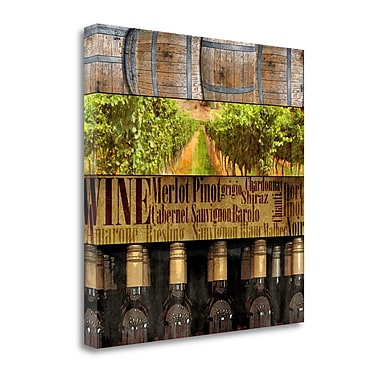 Tangletown Fine Art Create Wine' Graphic Art Print on Canvas; 20 ''H x 20 ''W x 1.5''D