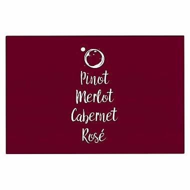 East Urban Home 'Pinot, Merlot, Cabernet, Rose' Doormat