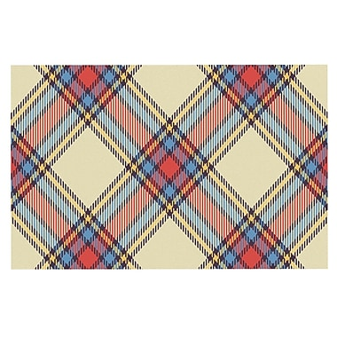 East Urban Home 'Sunday Brunch Plaid' Tar Decorative Doormat
