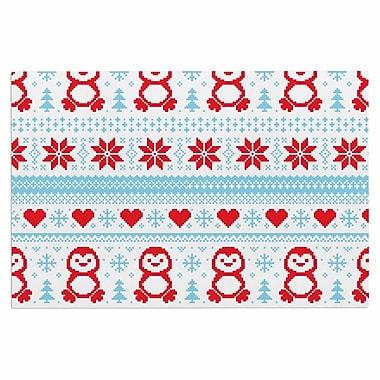 East Urban Home 'Pixel Penguin Holiday' Doormat