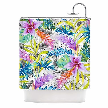 East Urban Home 'Exotic Pattern' Illustration Shower Curtain
