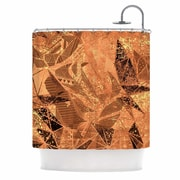East Urban Home 'Geometry of Fire' Mixed Media Shower Curtain