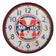 17 Stories 26.75'' Metro Black/Red Wall Clock