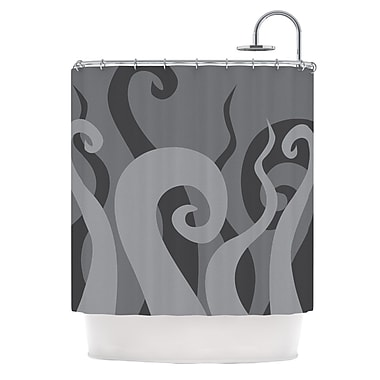 East Urban Home 'Poor Unfortunate Souls' Shower Curtain; Gray