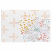 East Urban Home 'Bright and Pretty ' Doormat; Coral/White/Pink