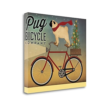 Tangletown Fine Art 'Pug on a Bike' Graphic Art Print on Canvas; 28'' H x 33'' W