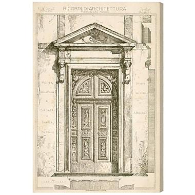 Astoria Grand 'Porta Della Chiesa Di S Agata' Graphic Art Print on Canvas; 45'' H x 30'' W x 1.5'' D