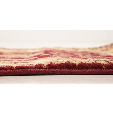 Astoria Grand Niles Red/Cream Area Rug; 4' x 6'
