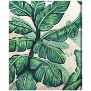 Bayou Breeze 'Banana Leaves' Painting Print on Canvas; 45'' H x 36'' W x 1.5'' D