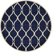 Winston Porter Molly Navy Blue Area Rug; Round 6'