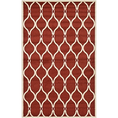 Winston Porter Molly Red Area Rug; 5' x 8'