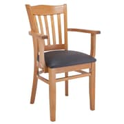 Darby Home Co Darlington Solid Wood Dining Chair; Black