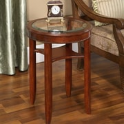 Darby Home Co Asheville Glass Tea Table
