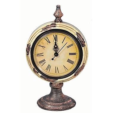 Charlton Home Round Clock W/Stand