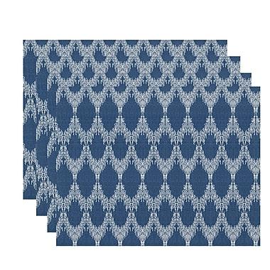 Mistana Arlo Geometric Placemat (Set of 4); Blue