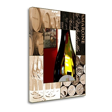Tangletown Fine Art 'Wine Lover' Graphic Art Print on Canvas; 20 ''H x 23 ''W x 1.5''D