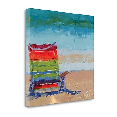 Tangletown Fine Art 'At The Beach' Print on Canvas; 20 ''H x 20 ''W x 1.5''D