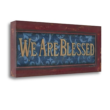 Tangletown Fine Art We Are Blessed' Textual Art on Canvas; 28 ''H x 12 ''W x 1.5''D