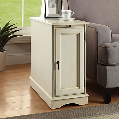 Darby Home Co Bulmershe End Table; White