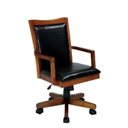 Darby Home Co Adjustable Wood Frame Armchair; Oak
