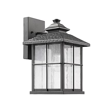 Darby Home Co 1-Light Outdoor Sconce; Black
