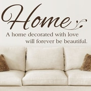 Enchantingly Elegant 'A Home Decorated w/ Love' Vinyl Letters Words Home Wall Decal; 35'' H x 17'' W