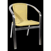 H&D Restaurant Supply, Inc. Patio Aluminum Arm Chair; Natural