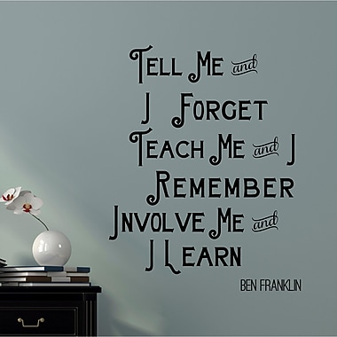 Enchantingly Elegant 'Tell Me Teach Me' Vinyl Words Lettering Inspirational Home Wall Decal