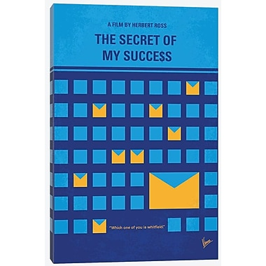 'The Secret of My Success Minimal Movie Poster' Vintage Advertisement on Wrapped Canvas