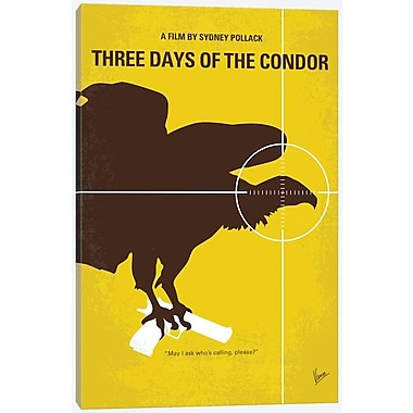 'Three Days of the Condor Minimal Movie Poster' Vintage Advertisement on Wrapped Canvas
