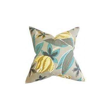 Bayou Breeze Bryleigh Floral Throw Pillow Cover; Gray