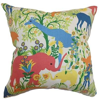 Bayou Breeze Bristol Flora and Fauna Square Throw Pillow Cover; 20'' x 20''