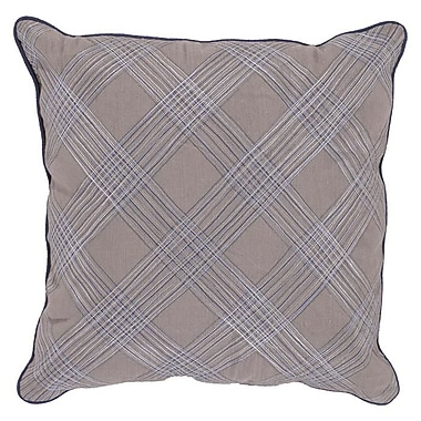 Charlton Home Wardingham Plaid Pillow; Down