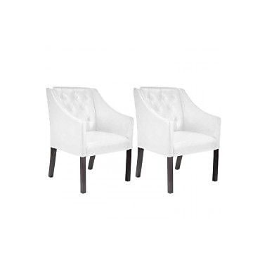 Darby Home Co Traditional Armchair (Set of 2); White