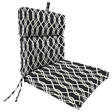 Alcott Hill Outdoor Dining Chair Cushion; Hedda Tuxedo