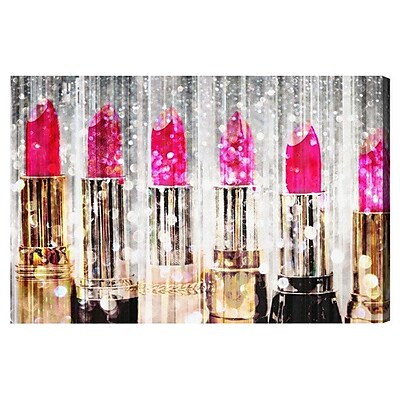 Rosdorf Park 'Lipstick Collection' Graphic Art Print on Canvas; 16'' H x 24'' W x 1.5'' D