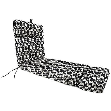 Alcott Hill Outdoor Chaise Lounge Cushion; Hedda Tuxedo